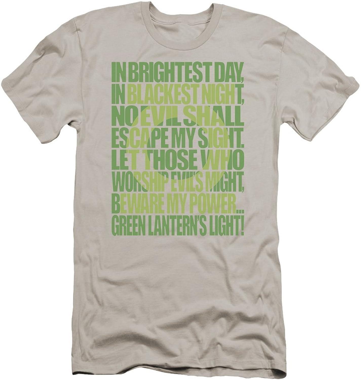 00c0bc7ec663 Green Lantern - Mens Oath Premium Slim Fit Fit Fit T-Shirt 98868c ...