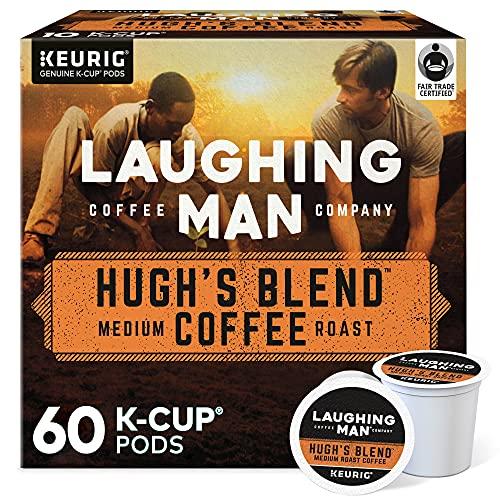 Laughing Man Hugh's Blend, Single-Serve Keurig K-Cup Pods, Medium Roast Coffee, 60 Count