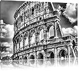 Pixxprint Kolosseum in Rom als Leinwandbild | Größe: 120x80 cm | Wandbild| Kunstdruck | fertig bespannt