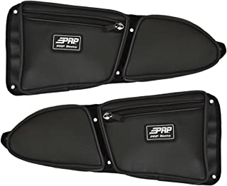 Pair of Side Door Bags For Stock 2 Seat Polaris RZR XP 1000 Doors With Black Piping - One Driver Side Bag, One Passenger Side