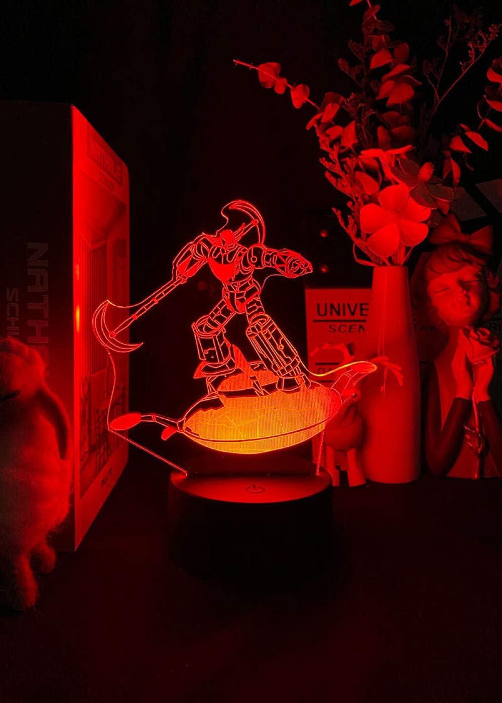 3D Night Outlet SALE Light for Kids Boys Large discharge sale Grendizer Bedroom Anime U-F-O Robot