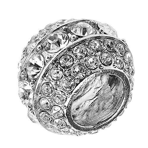 Barre de collier pour appuie-tête de siège de voiture avec anneau en cristal pour décoration intérieure.