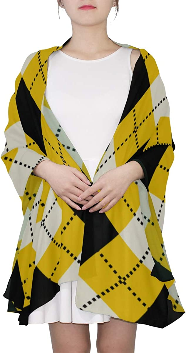 Colourful Argyle Classic Diamonds Unique Fashion Scarf For Women Lightweight Fashion Fall Winter Print Scarves Shawl Wraps Gifts For Early Spring