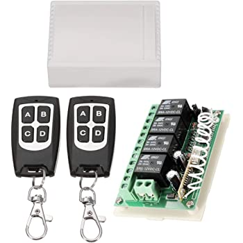 [SCHEMATICS_4FR]  INSMA 433Mhz Wireless RF Switch Long Range DC 12V 4CH Channel Wireless Remote  Control Switch, DC12V Relay Receiver Module, Transmitter Toggle Switch RF  Relay (2 Transmitter & 1 Receiver) - - Amazon.com | Remote Control 12v Dc Switch Wiring Diagram |  | Amazon.com