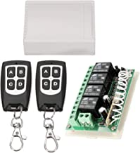 INSMA 433Mhz Wireless RF Switch Long Range DC 12V 4CH Channel Wireless Remote Control Switch, DC12V Relay Receiver Module,...