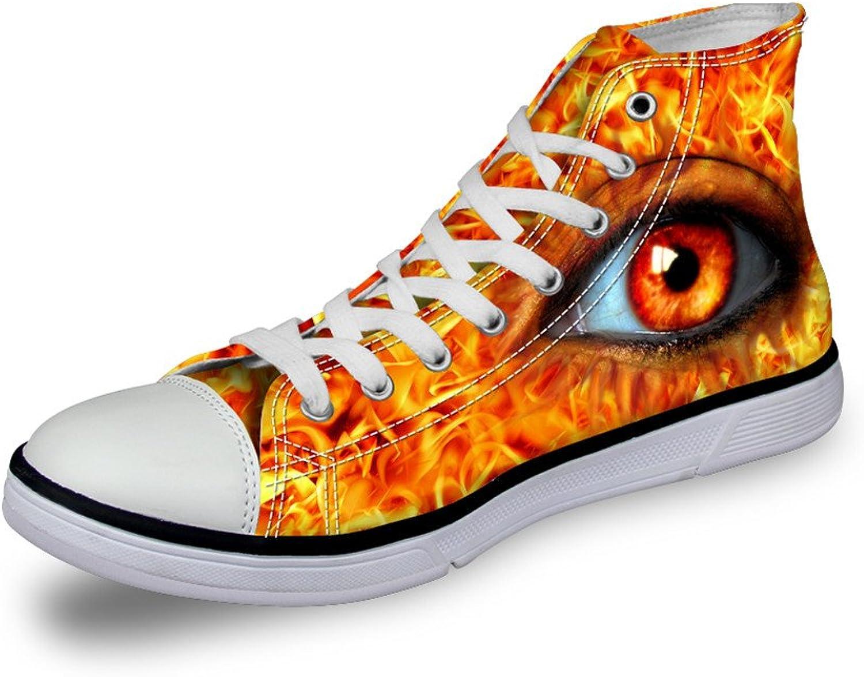 FOR U DESIGNS Designer Women Canvas shoes Vivid Pupil Eyes High Top Flat Sneakers