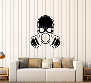 Wall Art Stickers Quotes and Sayings Skull Gas Mask Military Teen Room