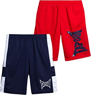 TapouT Boys' Athletic Shorts - Active Performance Basketball Running Shorts (2 Pack)