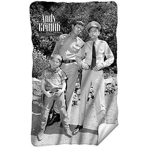 Andy Griffith Lawmen Fleece Throw Blanket (36'x58')