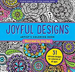Joyful Designs Adult Coloring Book (31 stress-relieving designs)