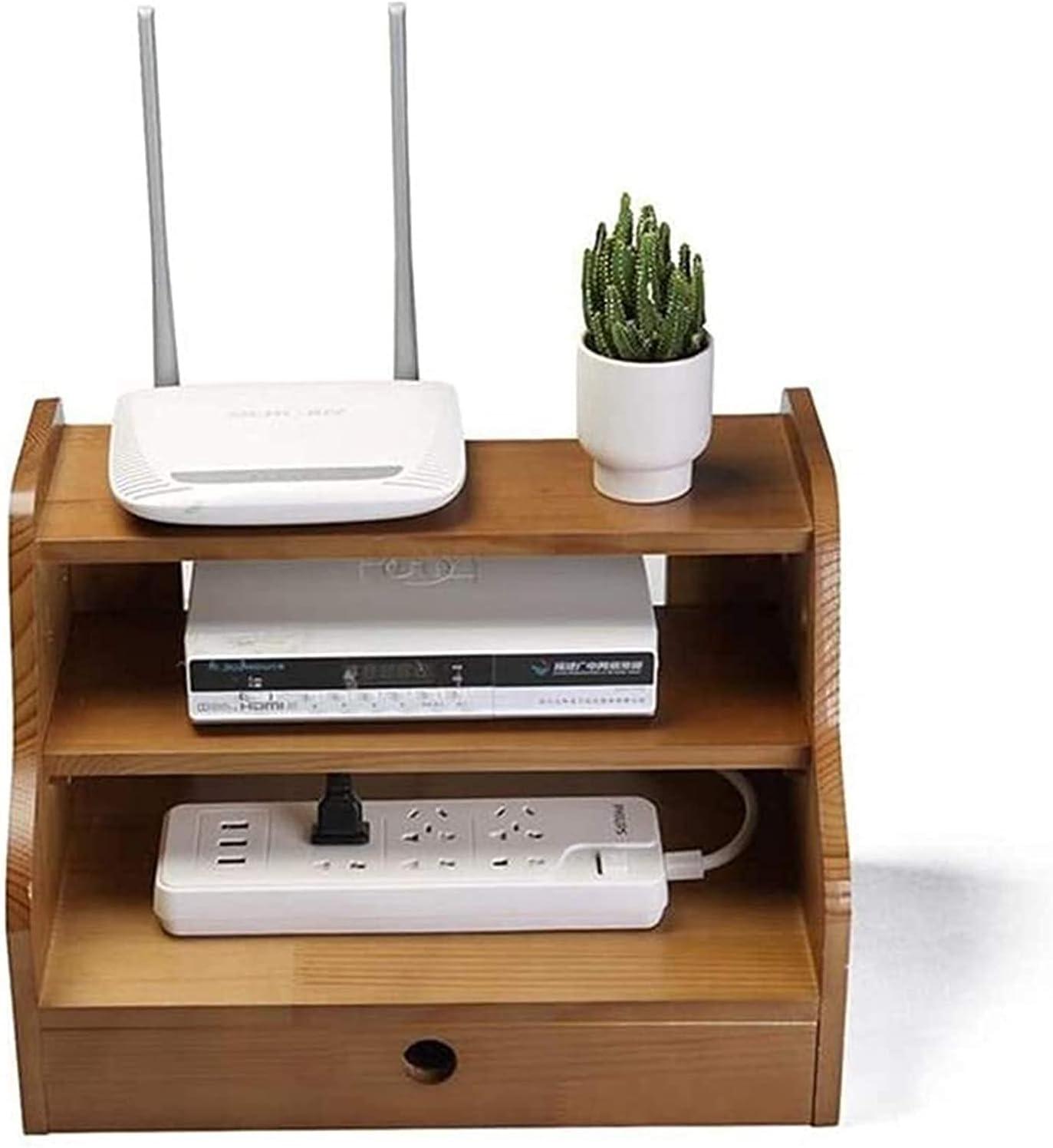 FMOGE WiFi Router Rack mart Box Set-top Wal Seasonal Wrap Introduction Shelves