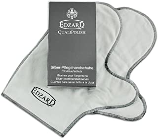 Edzard QualiPolish® Guantes para el Cuidado de la Plata (