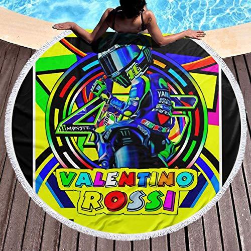 Valentino Rossi VR46 Toalla de playa ligera resistente al cloro toalla de piscina perfecta para tumbonas, toallas de baño, playa, gimnasio