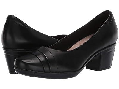 Clarks Emslie Mae (Black Leather) Women