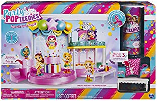 Party Popteenies - Poptastic Party Playset with Confetti, Exclusive Collectible Mini Doll and Accessories, for Ages 4...