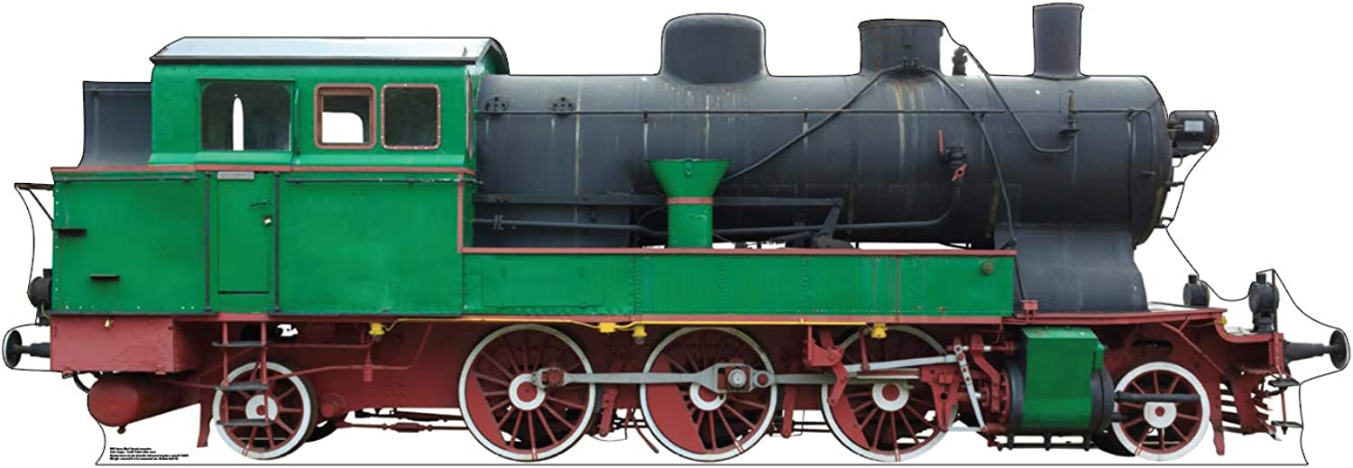Advanced Graphics Green and Red Steam Locomotive Life Size Cardboard Cutout Standup
