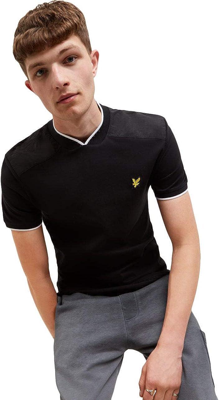 Lyle Scott Same day National products shipping Nylon Panel Short Sleeve T-Shirt