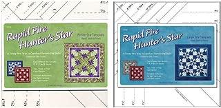 Studio 180 Design Rapid Fire Hunter's Star Bundle: Petite + Large Star Ruler Quilting Tool