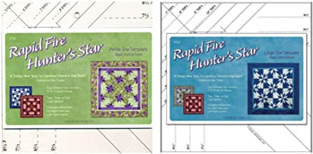 Studio 180 Design Rapid Fire Hunter's Star Bundle: Petite + Large Star Ruler Quilting Tool