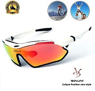 b1a952b5b1fa BOLLFO Polarized Sports Sunglasses for Men Women Cycling Running Climbing.
