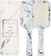 Lily England Paddle Brush Best for Detangling, Straightening Hair and Blowdrying - Marble