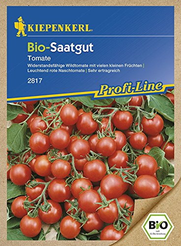 Kiepenkerl Bio-Tomaten (Wildtomate) 'Rote Murmel' | Naschtomaten | rot | süßer Geschmack | 1 Packung Samen