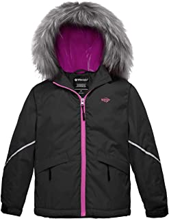Girl's Waterproof Ski Jacket Warm Winter Jacket Raincoat with Fur Hood