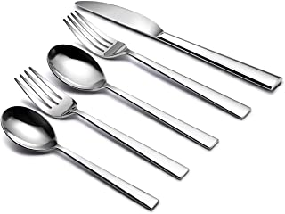 20-Piece Silverware Cutlery Flatware Set, Fork/Spoon/Knife Mirror Polished 18/10 Stainless Steel Dinnerware Tableware Service for 4