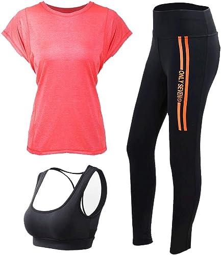 YINHUAN Yoga Pantalon Occasionnel Costume en Tissu Exercice VêteHommests De Sport Costume Trois Pièces