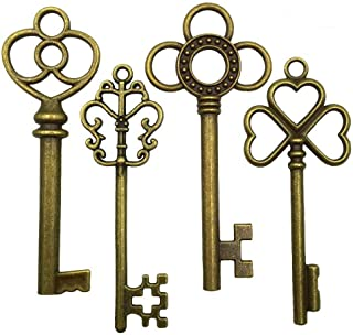 (Bronze) - Mmei 40 pcs Large Antique Bronze Steampunk Vintage Skeleton Keys for DIY Wedding Party Gifts Jewellery Necklace...