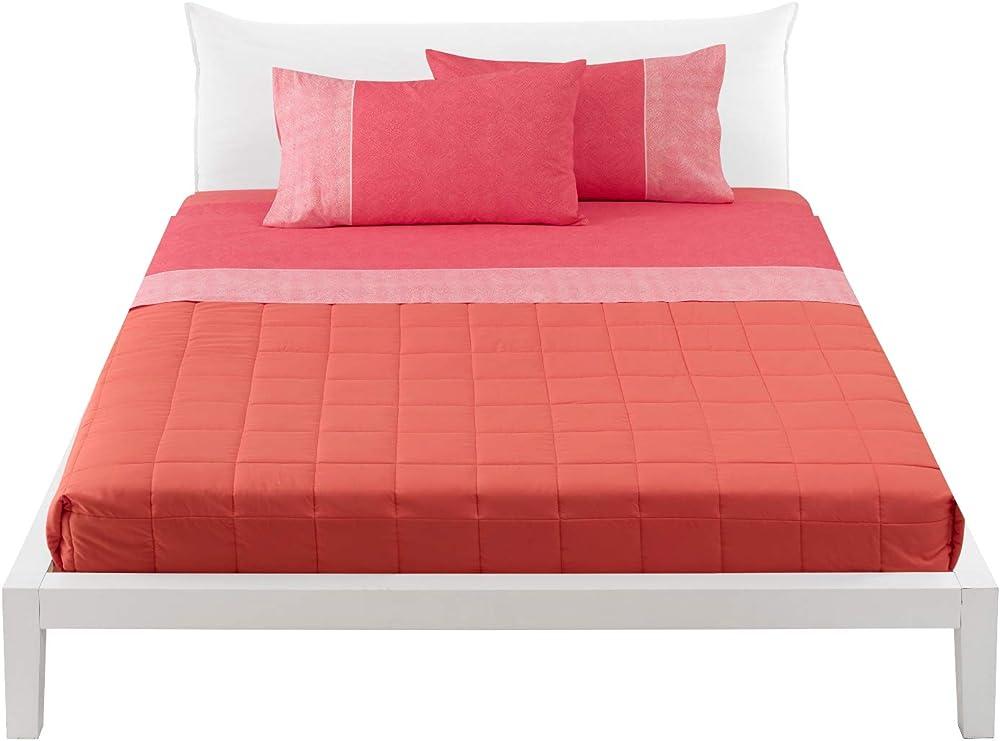 Bassetti, lenzuola letto matrimoniale, lenzulo sotto + sopra + 2 federe delf,100% cotone