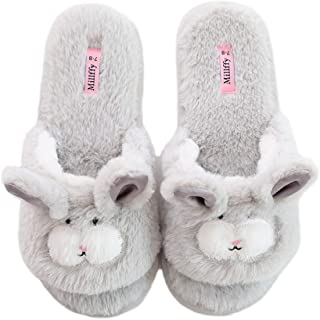 Open Toe Slippers for Women|Womens Cute Bunny Slippers|Pink Fuzzy Dog Slippers|flip Flops Indoor House Slippers