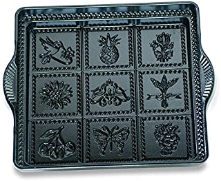 Nordic Ware Cast-Iron Aluminum 9-by-9-Inch English Shortbread Pan