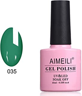 AIMEILI Soak Off UV LED Gel Nail Polish - Deep Jade (035) 10ml