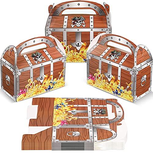 20 Cajas de Golosinas de Tesoro Pirata Cofre de Regalo de Fiesta de Decoración Caja de Decoración de Dulces de Halloween para Colegio Rendimiento de Juego Teatro Fiesta de Disfraces