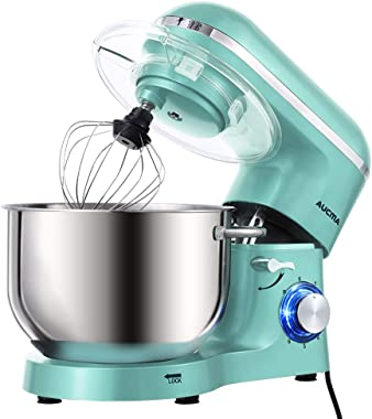 Aucma Stand Mixer,6.5-QT 660W 6-Speed Tilt-Head Food Mixer, Kitchen Electric Mixer with Dough Hook, Wire Whip & Beater (6