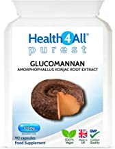 Glucomannan 700mg 90 Capsules V 1 Month Supply Purest – no additives Appetite Suppression Weight Loss Dietary Fibre from konjac Plant Vegan Made by Health4All Estimated Price : £ 9,99