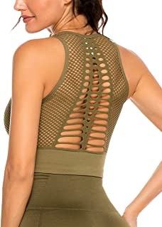 YOFIT Sexy Yoga Tank Tops Backless Vest with Removable Pad Workout Sleeveless Shirts Open Back
