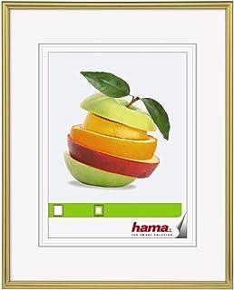 Hama Sevilla bildram (30 x 40 cm, med passepartout 20 x 27 cm, högkvalitativt glas, plastram, för upphängning) guld