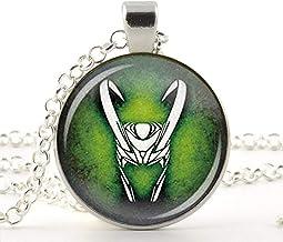 Colgante de cristal de arte, Loki God of Mischief, collar con dios de las travesuras, joyería Loki