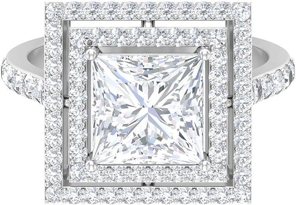 Max 48% OFF 3.76 CT Brilliant D-VSSI Moissanite Halo Ring Super sale Unique Engagement