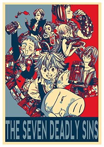Instabuy Poster Seven Deadly Sins Propaganda Characters (B) - A3 (42x30 cm)