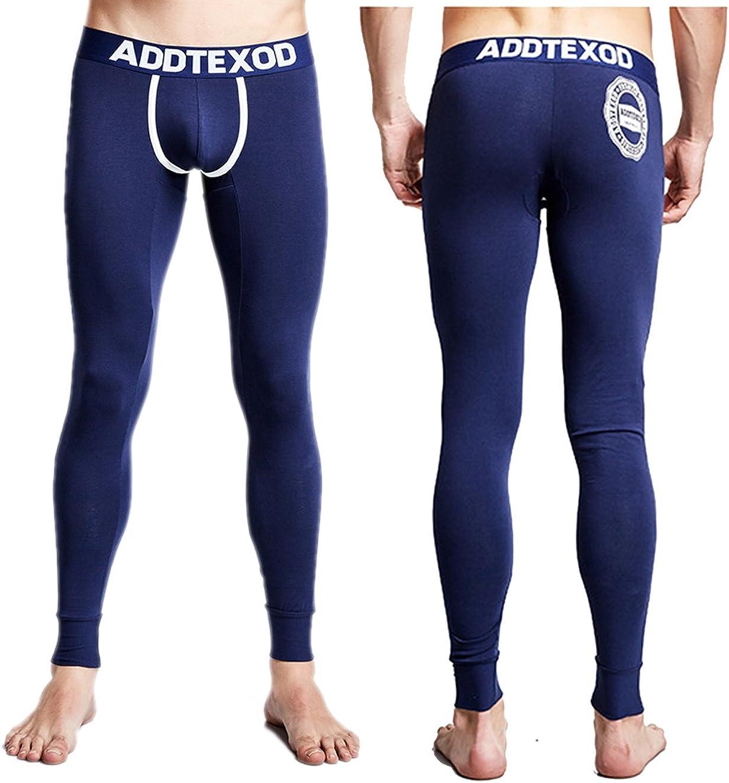 Ykeke Men Striped Underwear Cotton Winter Warm Thermal Long Johns SN06