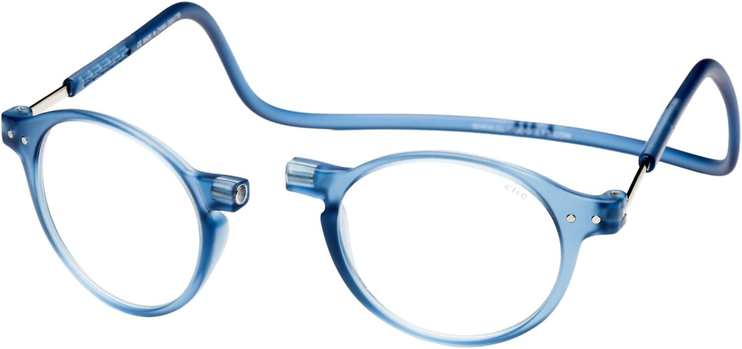 Clic Magnetic Reading Glasses Brooklyn Blue A surprise price is realized Sale +2.50 in Jean