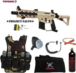 Maddog Tippmann U.S. Army Project Salvo Lieutenant Tactical Camo Vest Paintball Gun Package - Tan