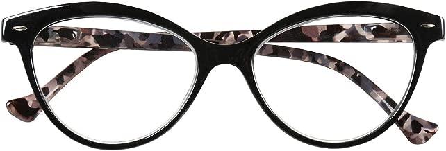 Cougar Sunglasses Women's Cat Eye Fashion Readers - Black - Magnification +5.00