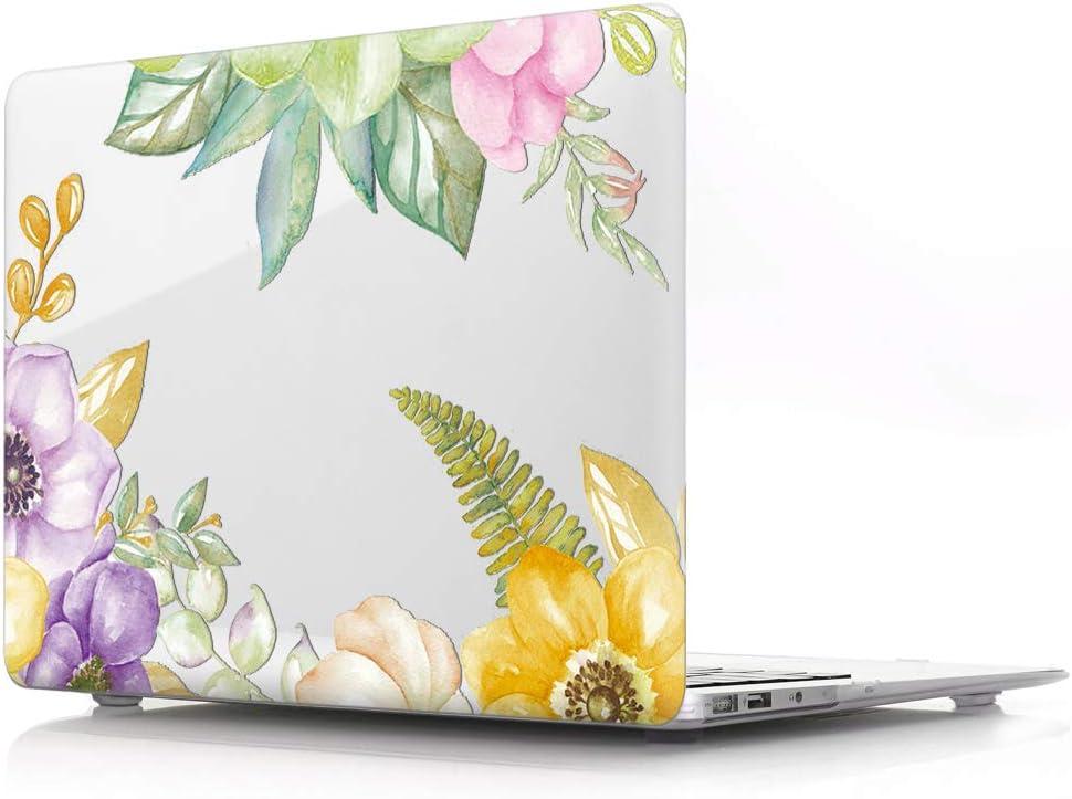 HRH Watercolor Yellow Flower Clear Body Prot Shell Award-winning Sale item store Glossy Laptop