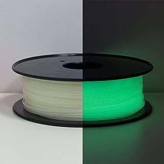 3D Printer Filament Glow in Dark, Geeetech 1.75mm PLA Filament, Color: White (Luminous Green)
