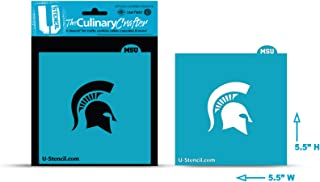 U-STENCIL MSOOS-401 NCAA Michigan State Spartans Collegiate Helmet Crafter Culinary Stencil, One Size, White