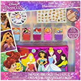 Townley Girl Disney Princess Peel- Off Nail Polish Activity Set for Girls, Ages 3+ With 5 Nail Polish Colors, 240 Nail Gems, and Bag, for Parties, Sleepovers and Makeovers
